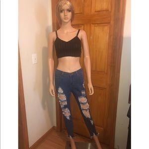 👖Fashion nova shredded ripped skinny jeans